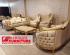 Kursi tamu sofa mewah warna emas Mahoni Jepara