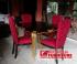 Kursi meja makan klasik Warna merah dan Gold Jepara