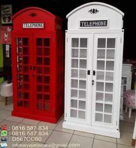 Lemari Telephone Minimalis Terbaru Asli Jepara