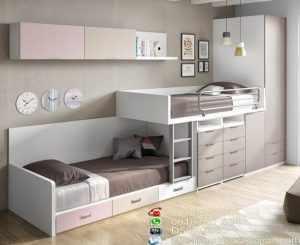 Set Tempat Tidur Anak Putih Cat Duco Harga Murah