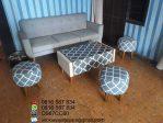 Set Kursi Sofa Stool Terbaru Murah