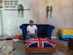 Set Meja Tamu London Kayu Mahoni